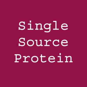 Single Source Protein Recipe